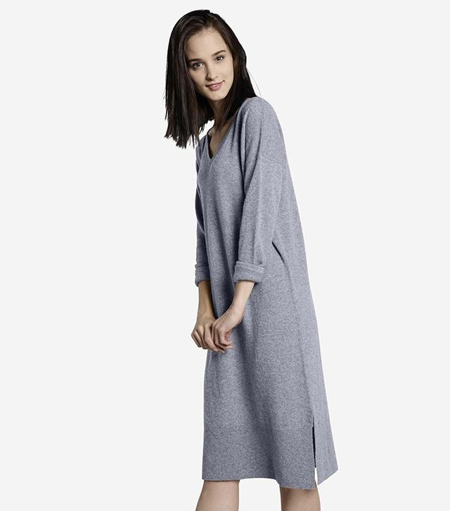 Grana Cashmere Boyfriend Sweater Dress