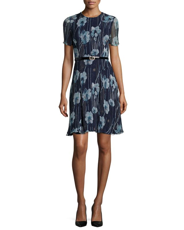 Jason Wu Short-Sleeve Floral Dress