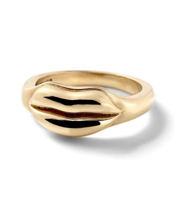 Alison Lou Lip Stack Ring