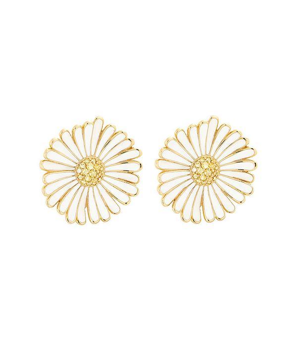 Alison Lou Large Daisy Earrings