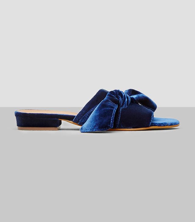Kenneth Cole Velvet Slide Sandals