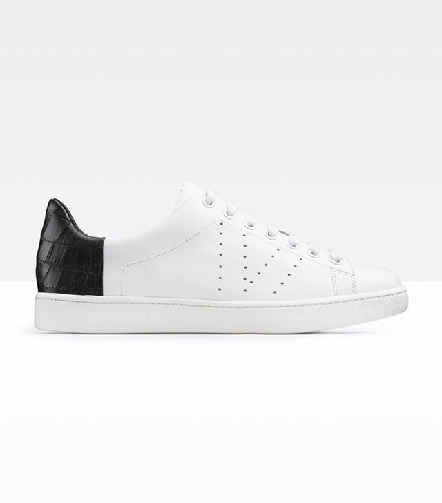 Vince Varin Texxture Blocked Leather Sneakers