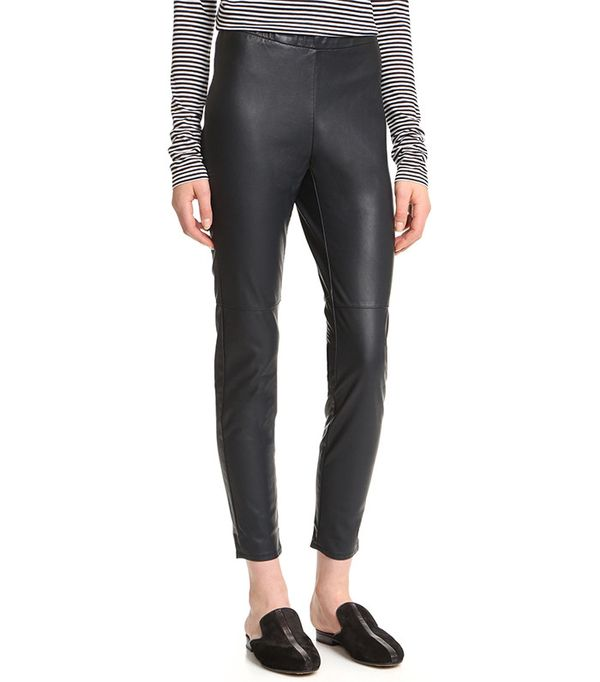 Cupcakes and Cashmere Lilliana Stretch Vegan Leather Leggings