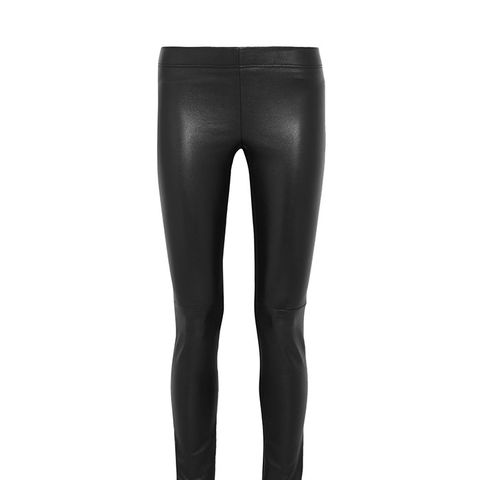 Leather-Paneled Leggings