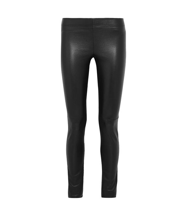 Joseph Leather-Paneled Leggings