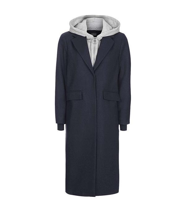 Topshop Hybrid Hoodie Coat