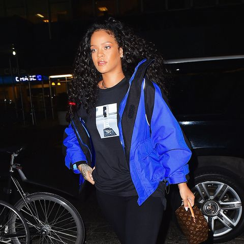 Rihanna wearing leggings street style