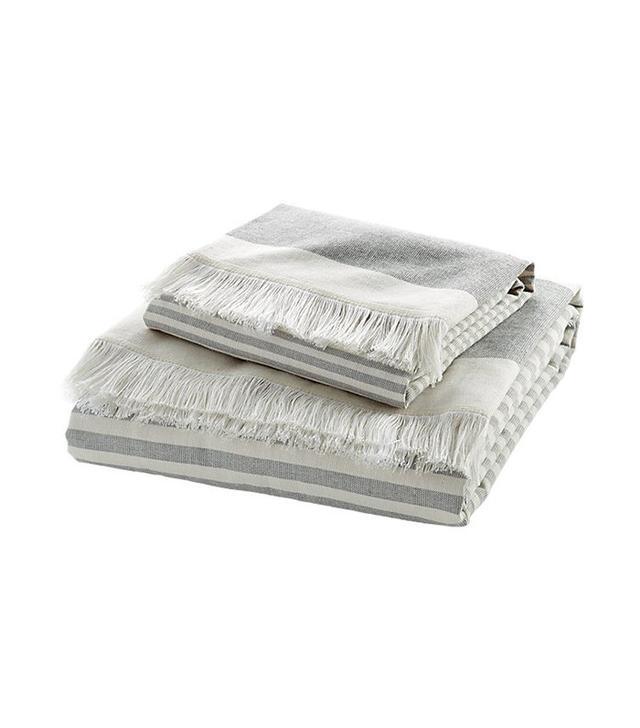 CB2 Karla Cement Bath Towels