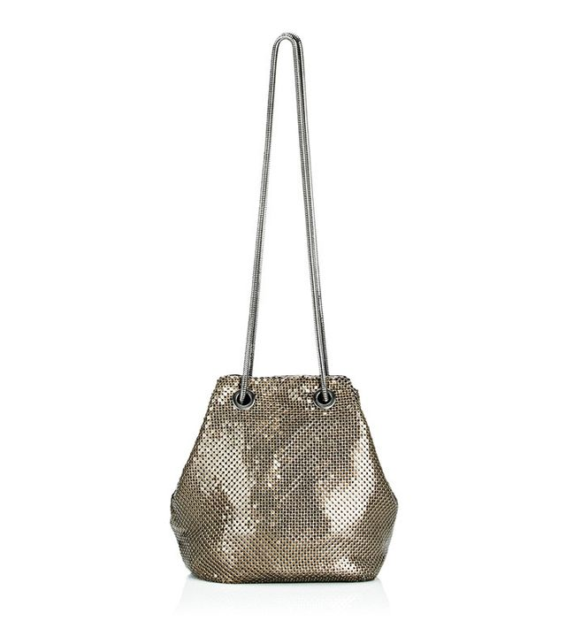 Barneys New York Metal Mesh Bucket Bag