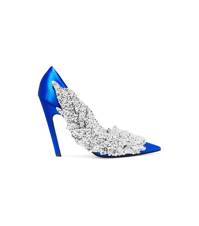 Balenciaga Sequin-Embellished Satin Pumps