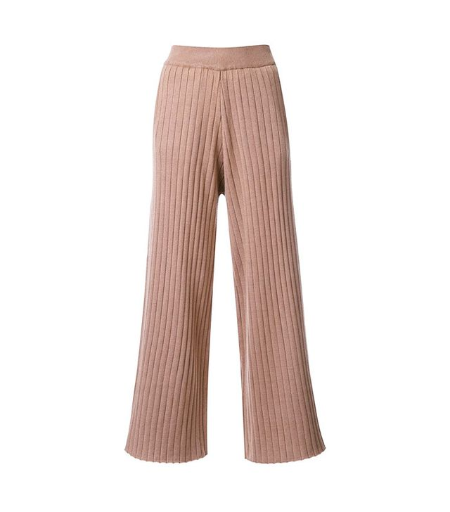 Loveless Cropped Knitted Trousers
