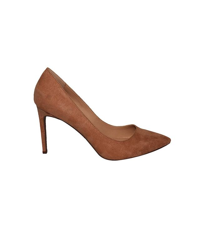 Who What Wear Ally Microsuede Pumps in Tan