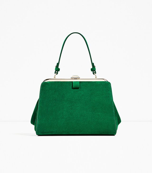 Zara Mini Split Suede City Bag