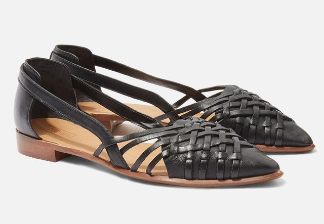 Topshop Abstract Pointed Shoes