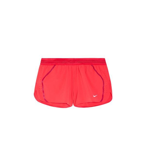 Nike Aeroswift Mesh-Tripped Dri-Fit Stretch-Shell Shorts