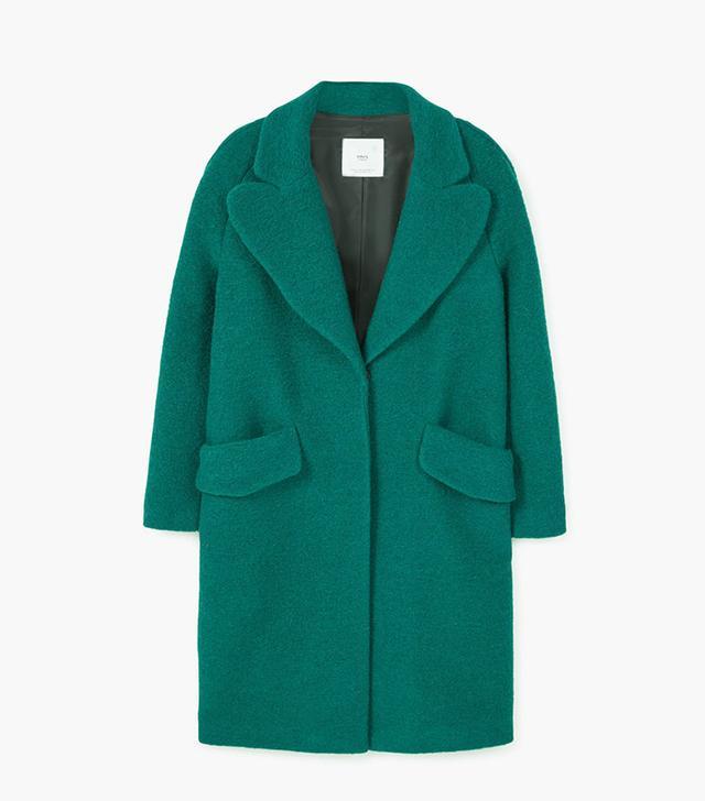 Mango Textured Wool Blend Coat