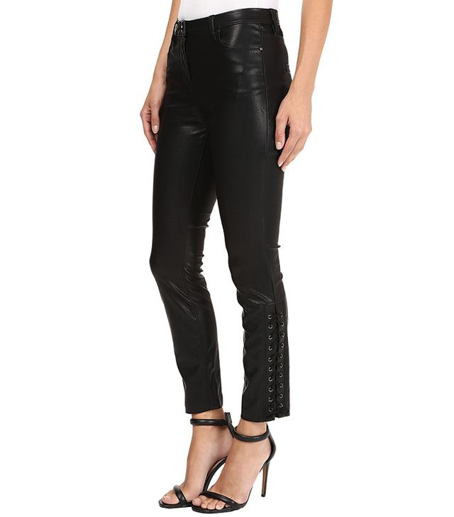 Blank NYC Vegan Leather Lace-Up Skinny in With Friends