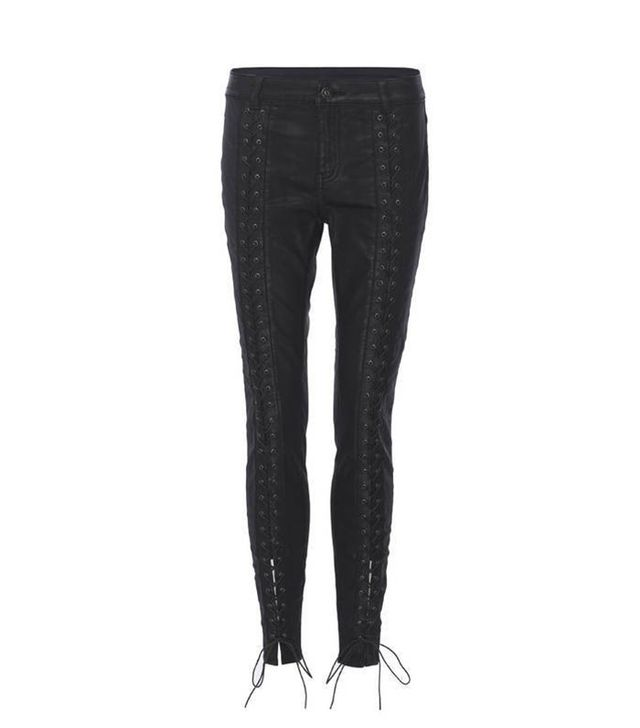 Pam & Gela Coated Sateen Legging with Lace-Up