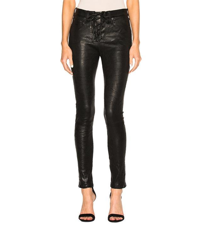 Rag & Bone/Jean  Lace-Up Leather Pants