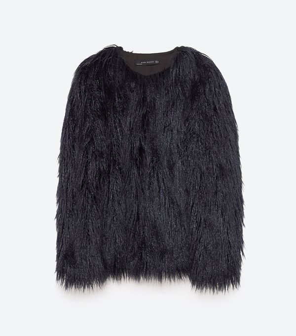 Zara Short Faux-Fur Jacket