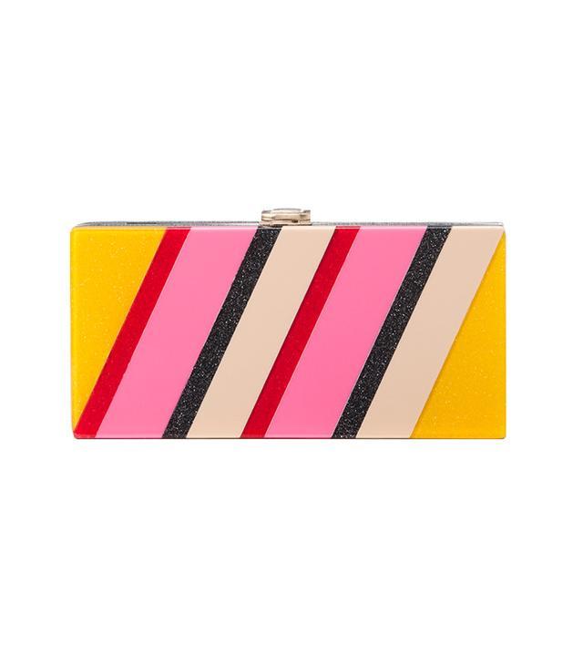 Milly Stripe Box Clutch