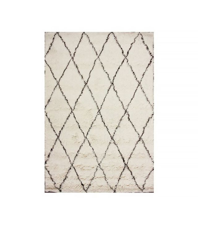 Rugsville Moroccan Beni Ourain Ivory 10996 Wool Rug