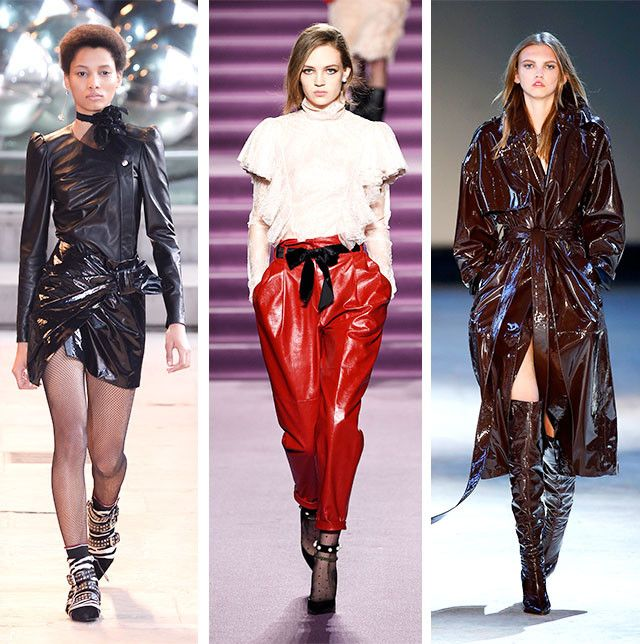 Autumn Winter 2017 Fashion Trends Patent Leather