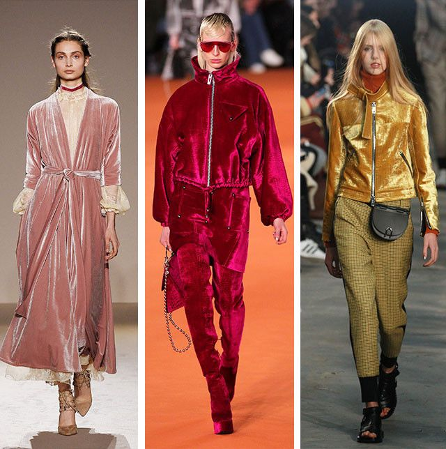 Autumn winter 2017 fashion trends velvet