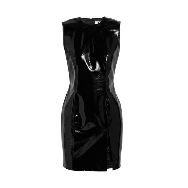 Topshop Unique Patent Leather Mini Dress