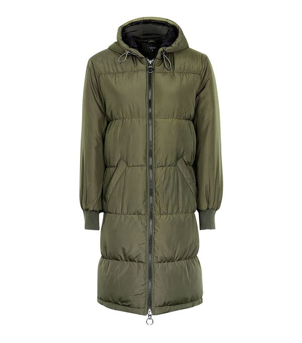 Topshop Long Quilted Puffer Jacket