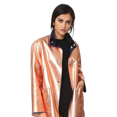 Faux Fur Reversible Culver Coat