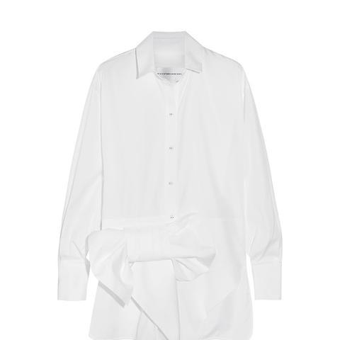 Bow-Embellished Cotton Shirt