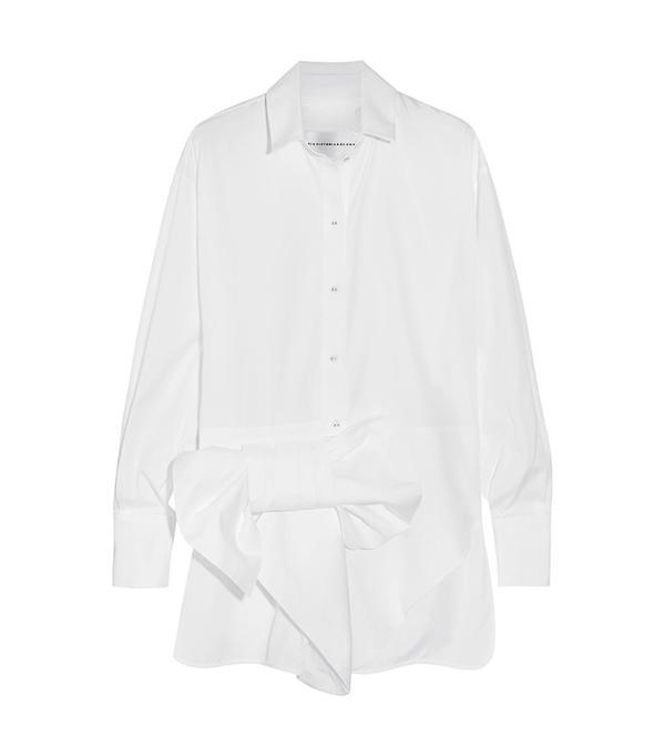 Victoria, Victoria Beckham Bow-Embellished Cotton Shirt