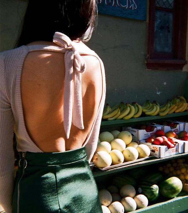 LNA Tie Back Bodysuit - Oat