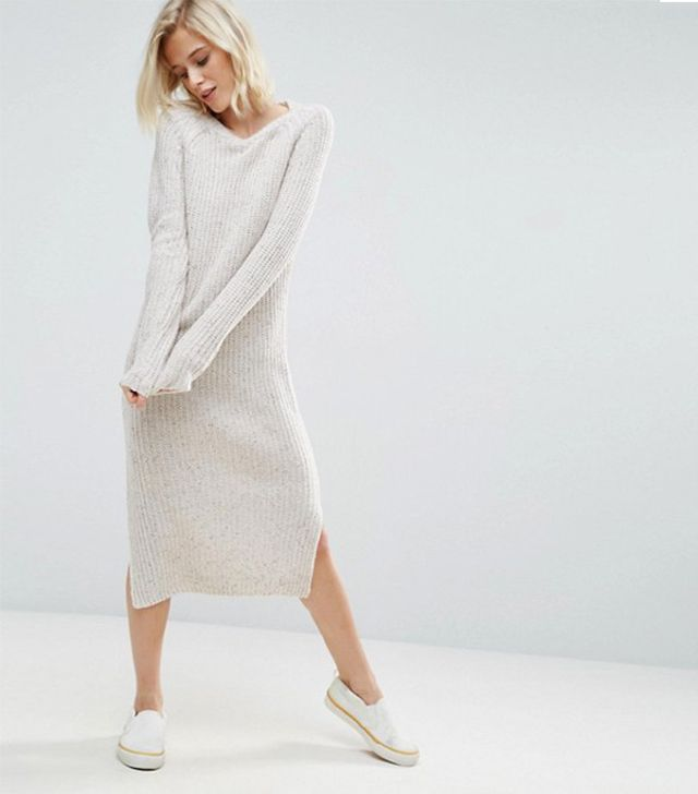 ASOS Midi Dress in Chunky Knit