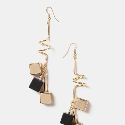 Spiral Cube Drop Earrings