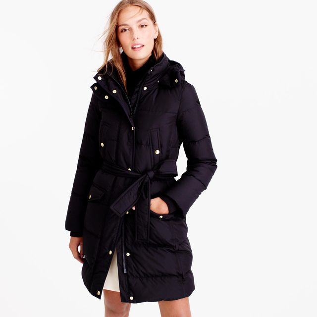 J.Crew Wintneress Belted Puffer Coat