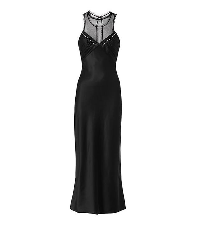 Alexander Wang Studded Ruched Slip Dress