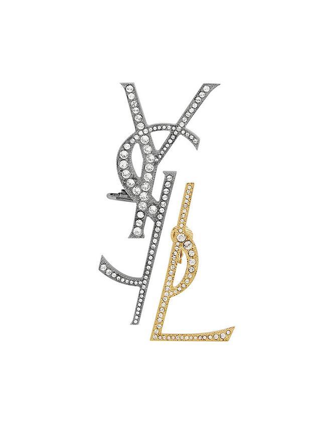 Saint Laurent Monogram Deconstructed Earrings