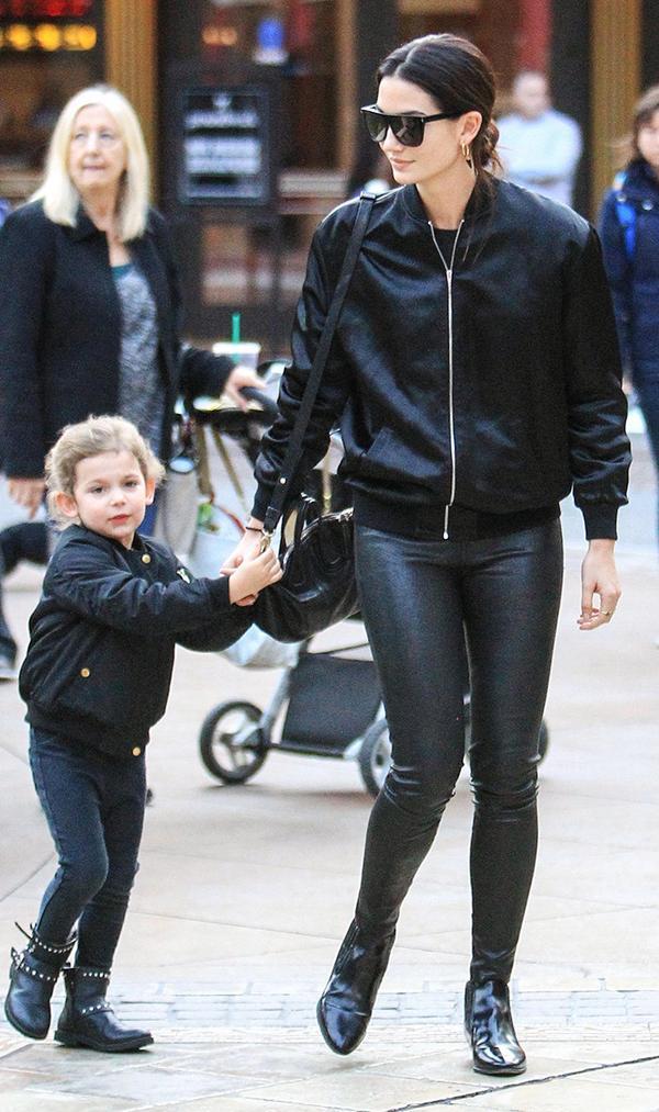 lily-aldridge-leather-pants