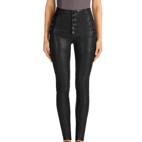 Natasha Leather Sky-High Skinny Pants