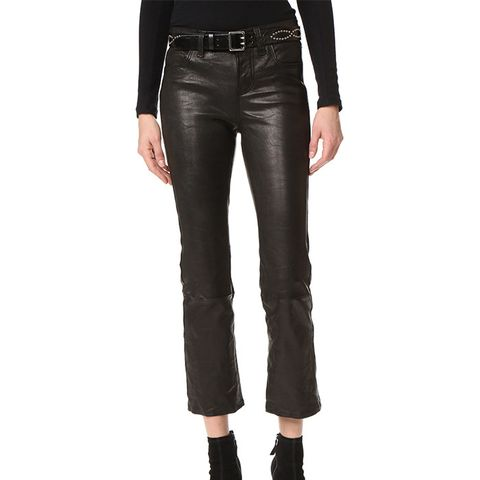 Selena Cropped Leather Pants
