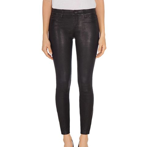 L8001 Mid Rise Stretch Leather Pants
