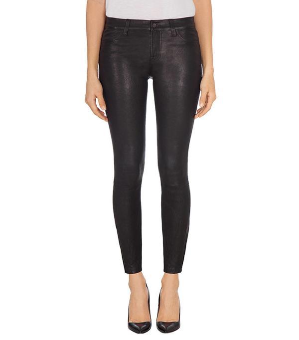 J Brand L8001 Mid Rise Stretch Leather Pants