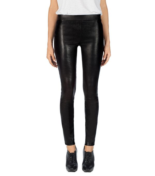 J Brand Edita Mid Rise Leather Leggings