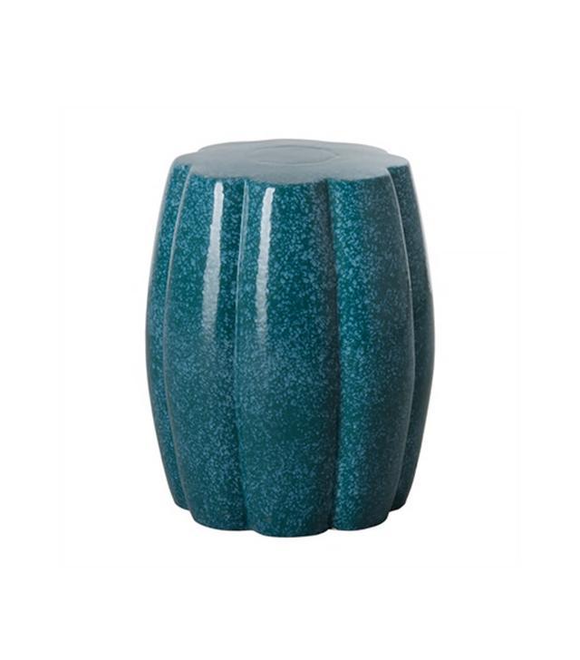 Emissary Dark Turquoise Calabash Garden Seat