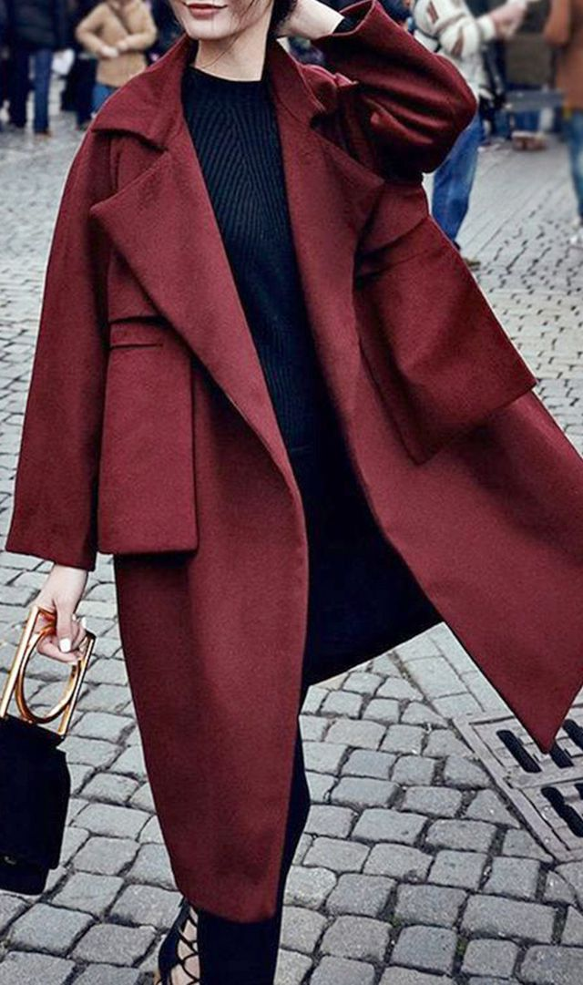 Make a statement with an eye-catching colorful coat.