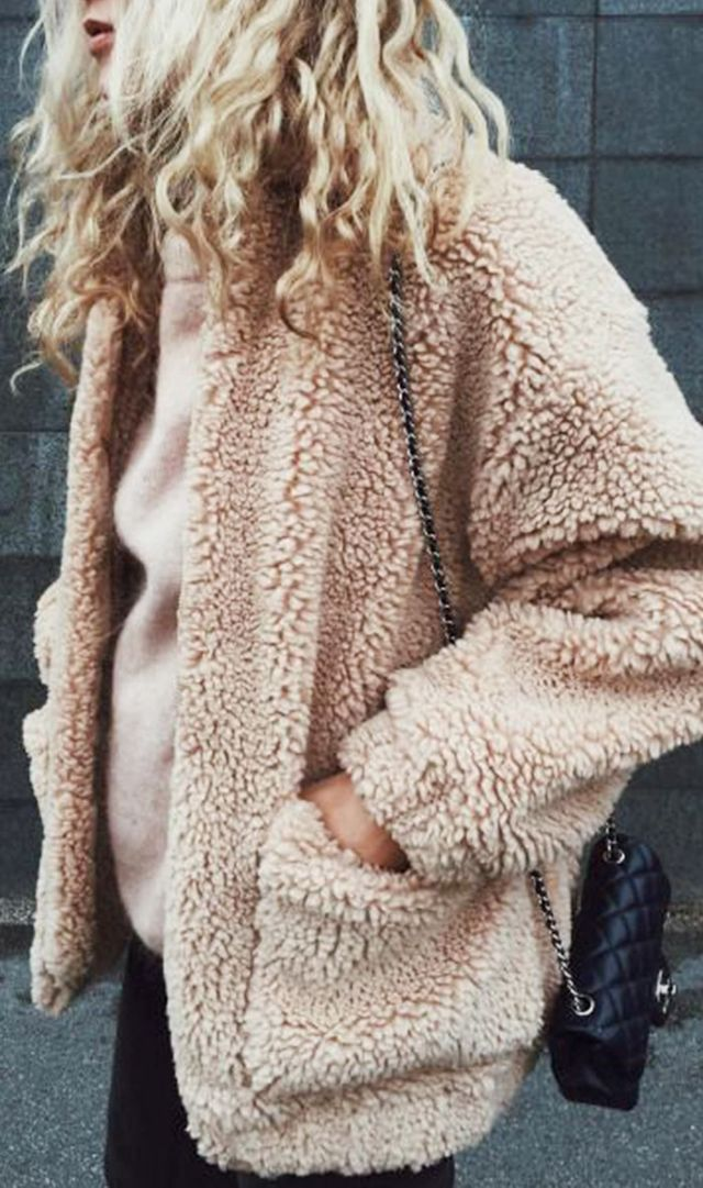 Coordinate your coat and sweater.