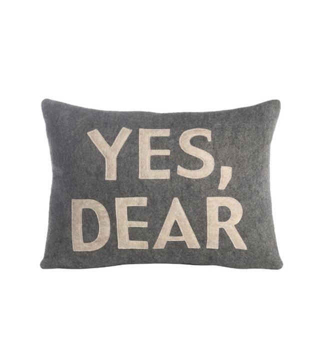 """Alexandra Ferguson House Rules """"Yes, Dear"""" Throw Pillow"""