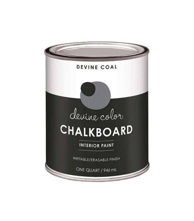 Valspar Devine Color 1-Quart Chalkboard Paint in Coal
